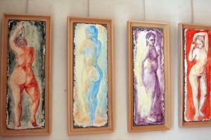 Automne, Hiver, Printemps, Ete, fresques, 20x60cm
