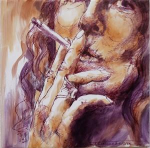 Fumeuse 1 - ceramique